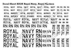 Royal Navy & Royal Marines Lettering - White